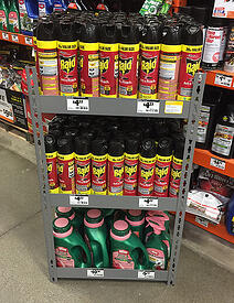 Retail Display Rack Example Image - Lawn & Garden Products