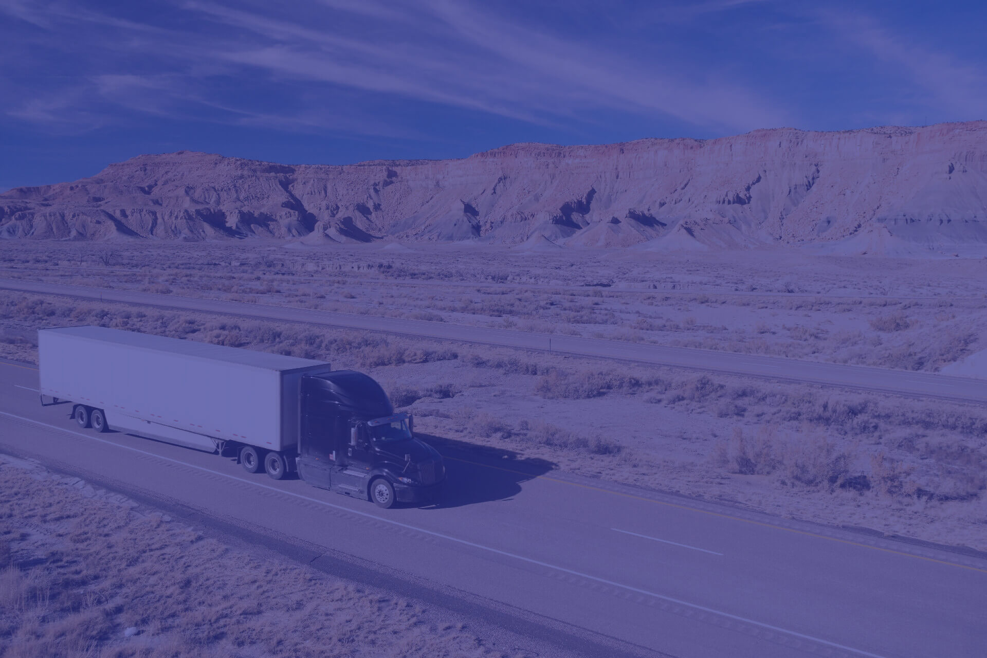 Semi truck making a cart and rack sweep